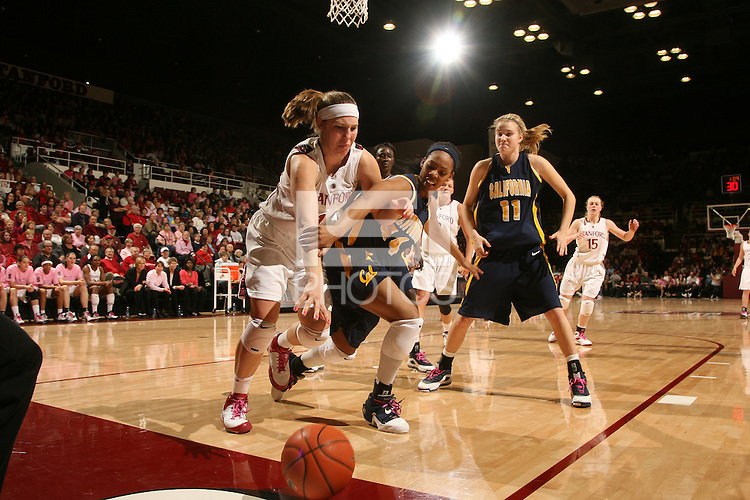 STANFORD, CA - FEBRUARY 14:  Forward Kayla Pedersen #14 of the Stanford Cardinal during Stanford's 58-41 win against the California Golden Bears on February 14, 2009 at Maples Pavilion in Stanford, California.