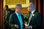 © Joel Goodman - 07973 332324 . 23/06/2016 . Manchester , UK .  NIGEL EVANS , MP for Ribble Valley and PAUL NUTTALL MEP , in the Mayor's Parlour , at the declaration in the EU referendum at Manchester Town Hall . Photo credit : Joel Goodman