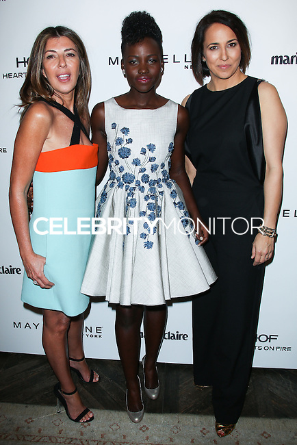 WEST HOLLYWOOD, CA, USA - APRIL 08: Nina Garcia, Lupita Nyong'o, Anne Fulenwider at the Marie Claire Fresh Faces Party Celebrating May Cover Stars held at Soho House on April 8, 2014 in West Hollywood, California, United States. (Photo by Celebrity Monitor)