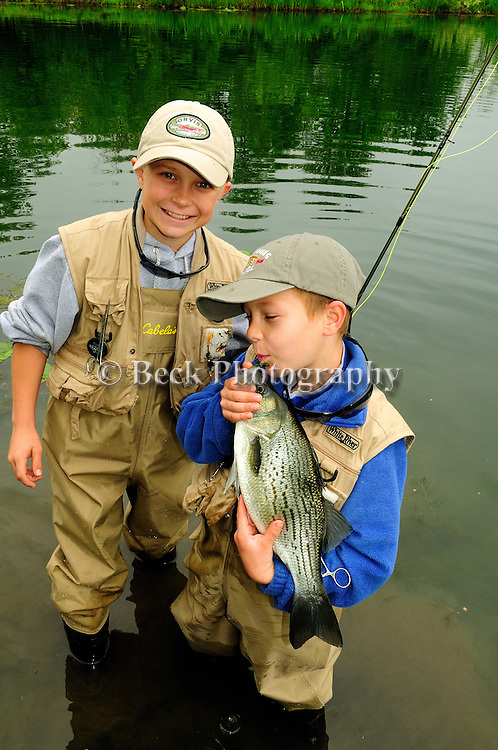 KIDS FLY FISHING, JOE FORYS FATHER, BRYCE AND AIDEN SONS