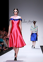 Modelle vestono le creazioni dell'anteprima della collezione Primavera Estate 2015 di San Andres Milano durante la rassegna Altaroma, a Roma, 15 luglio 2014.<br /> Models wear creations by San Andres Milano's Spring Summer 2015 preview collection at the Altaroma fashion week in Rome, 15 July 2014.<br /> UPDATE IMAGES PRESS/Isabella Bonotto