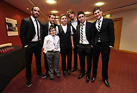 Pictured: Wednesday 10 April 2013<br /> Re: Swansea footballer Angel Rangel and wife Nicky's cancer charity fundraising dinner at the Liberty Stadium.<br /> Chico Flores<br /> Ben Davies<br /> Pablo Hernandez<br /> Michu