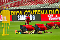 Glendale, AZ - Friday June 24, 2016: Jermaine Jones of the United States during a training prior to the third place match of the Copa America Centenario at the University of Phoenix Stadium.<br /> Action photo during of the United States team training before the game against the selection of Colombia for third place in the America Cup Centenary 2016 at University of Phoenix Stadium<br /> <br /> Foto de accion durante el Entrenamiento de la Seleccion de Estados Unidos previo al partido contra la Seleccion de Colombia por el tercer lugar de la Copa America Centenario 2016, en el Estadio de la Universidad de Phoenix, en la foto: Jermaine Jones de USA<br /> <br /> <br /> 24/06/2016/MEXSPORT/Victor Posadas.