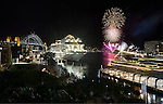 Celebrations on Sydney Harbour for the inaugural visit of a MSC cruise ship.