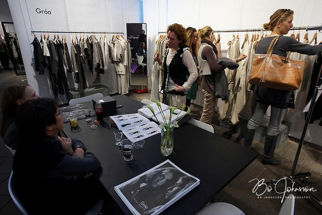 Groa Casch Copenhagen  (Denmark, designer Groa Abrahamsson, www.groa.dk) during the fashion fair &quot;CPH Vision&quot; in Oksnehallen. Copenhagen Fashion Week.<br /> February 2009.<br /> Only for editorial use.