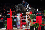 John Whitaker of United Kingdom riding Argento in action at the Gucci Gold Cup during the Longines Hong Kong Masters 2015 at the AsiaWorld Expo on 14 February 2015 in Hong Kong, China. Photo by Xaume Olleros / Power Sport Images