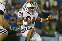 1 October 2006: Trevor Hooper makes an interception during Stanford's 31-0 loss to UCLA at the Rose Bowl in Pasadena, CA.