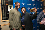 Kamiah Mitchell took a selfie with Tarell Alvin McCraney, Friday, April 21, 2017 in the Lincoln Park Student Center. (Photo by Diane M. Smutny)