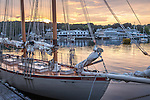 The schooner Eastwind in Boothbay Harbor, Maine, USA