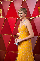 Oscar&reg; nominee Greta Gerwig arrives on the red carpet of The 90th Oscars&reg; at the Dolby&reg; Theatre in Hollywood, CA on Sunday, March 4, 2018.<br /> *Editorial Use Only*<br /> CAP/PLF/AMPAS<br /> Supplied by Capital Pictures