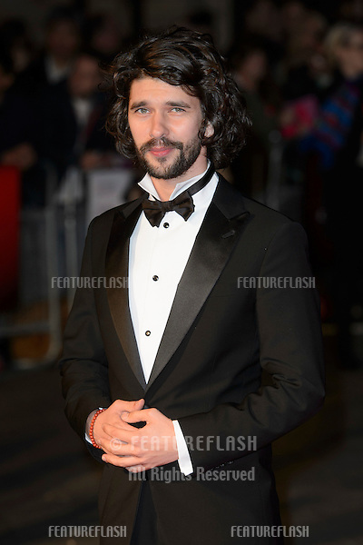 Ben Whishaw at the BFI London Film Festival premiere of &quot;Suffragette&quot; at the Odeon Leicester Square, London.<br /> October 7, 2015  London, UK<br /> Picture: Dave Norton / Featureflash