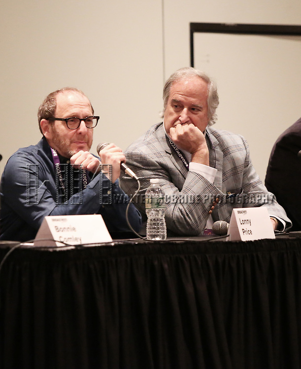 Lonny Price and Stewart F. Lane attends the BroadwayHD panel discussion at Broadwaycom 2018 on January 26, 2018 at Jacob Javitz Center in New York City.