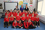 Mary Hanafin with School Principal Mary Carpenter and Lorraine Lally with her senior infants class as she opens Scoil Oilibheir Naofa...(Photo credit should read Jenny Matthews www.newsfile.ie)....This Picture has been sent you under the condtions enclosed by:.Newsfile Ltd..The Studio,.Millmount Abbey,.Drogheda,.Co Meath..Ireland..Tel: +353(0)41-9871240.Fax: +353(0)41-9871260.GSM: +353(0)86-2500958.email: pictures@newsfile.ie.www.newsfile.ie.