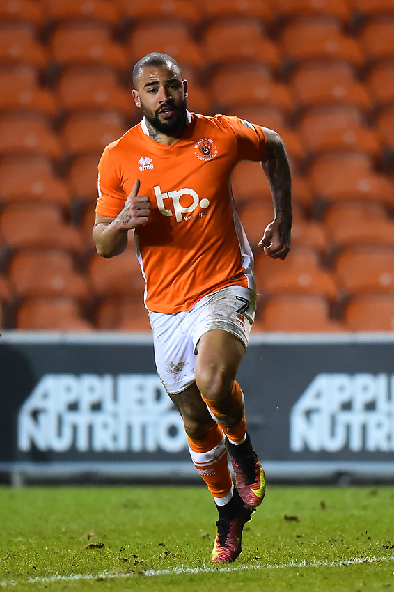 Blackpool's Kyle Vassell in action<br /> <br /> Photographer Richard Martin-Roberts/CameraSport<br /> <br /> The EFL Sky Bet League One - Blackpool v Charlton Athletic - Tuesday 13th March 2018 - Bloomfield Road - Blackpool<br /> <br /> World Copyright &not;&copy; 2018 CameraSport. All rights reserved. 43 Linden Ave. Countesthorpe. Leicester. England. LE8 5PG - Tel: +44 (0) 116 277 4147 - admin@camerasport.com - www.camerasport.com
