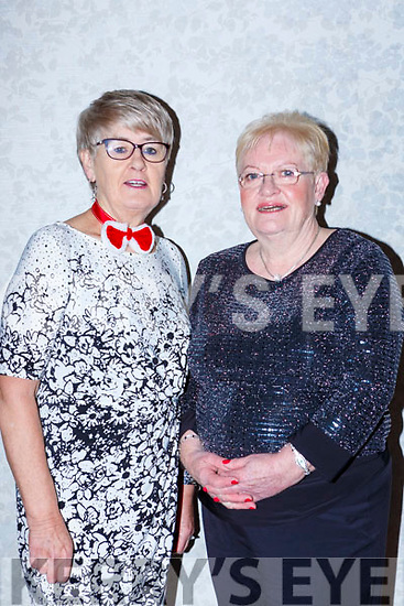 Julie Quinn and Mary O'Shea enjoying the Killarney B+B Christmas party in Dromhall Hotel on Friday night