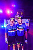 7th February 2019, Melbourne Arena, Melbourne, Australia; Six Day Melbourne Cycling; Sam Welsford and Cameron Scott of Australia ended the night as the overall leaders