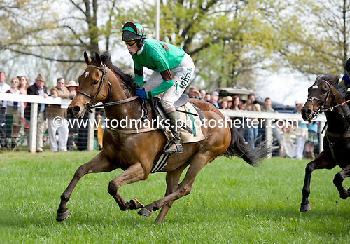 Paddy Young steers Left Unsaid to the wire in the Middleburg finale over the flat.