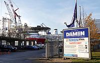 Nederland - Amsterdam -  November 2019. Haven van Amsterdam. DAMEN shiprepair.   Foto Berlinda van Dam / Hollandse Hoogte