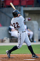 Lee Cruz #22 of the Birmingham Barons follows through on his swing versus the Carolina Mudcats at Five County Stadium August 15, 2009 in Zebulon, North Carolina. (Photo by Brian Westerholt / Four Seam Images)