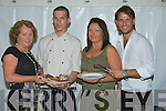 BAR-B-QUE: Attending the Brazilian Nighty barbque theme at Station House Blennerville, l-r: Katie Hogan, Alex Daulario (chef), Caroline Moriarty and Lee Bradshaw (proppitier)..