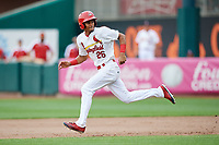 Springfield Cardinals center fielder Oscar Mercado (26) runs the bases during a game against the San Antonio Missions on June 4, 2017 at Hammons Field in Springfield, Missouri.  San Antonio defeated Springfield 6-1.  (Mike Janes/Four Seam Images)
