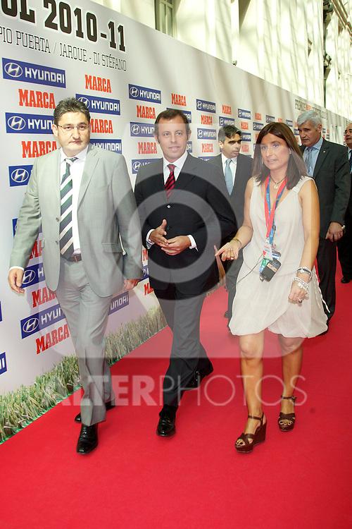 Premios Marca del Futbol 2011. Sandro Rosell, FC Barcelona president...Photo: Cesar Cebolla / ALFAQUI