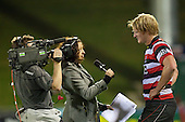Sky Sports Melodie Robson interviews Steelers Captain Jamie Chipman at the conclusion of the game. ITM Cup Round 1 game between the Counties Manukau Steelers and Otago, played at Bayer Growers Stadium, Pukekohe, on Saturday July 31st 2010. Counties Manukau Steelers won 29 - 13 after leading 22 - 6 at halftime.