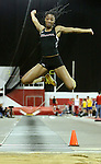 VERMILLION, SD - FEBRUARY 8:  Kathie-Lee Laidley from Nebraska Omaha wins the long jump at the University of South Dakota Track Alumni Meet Saturday at the DakotaDome in Vermillion.  (Photo by Dave Eggen/Inertia)