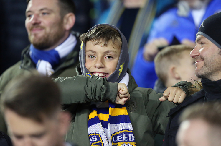 Leeds United fans soak up the pre-match atmosphere<br /> <br /> Photographer Rich Linley/CameraSport<br /> <br /> The EFL Sky Bet Championship - Tuesday 1st October 2019  - Leeds United v West Bromwich Albion - Elland Road - Leeds<br /> <br /> World Copyright © 2019 CameraSport. All rights reserved. 43 Linden Ave. Countesthorpe. Leicester. England. LE8 5PG - Tel: +44 (0) 116 277 4147 - admin@camerasport.com - www.camerasport.com
