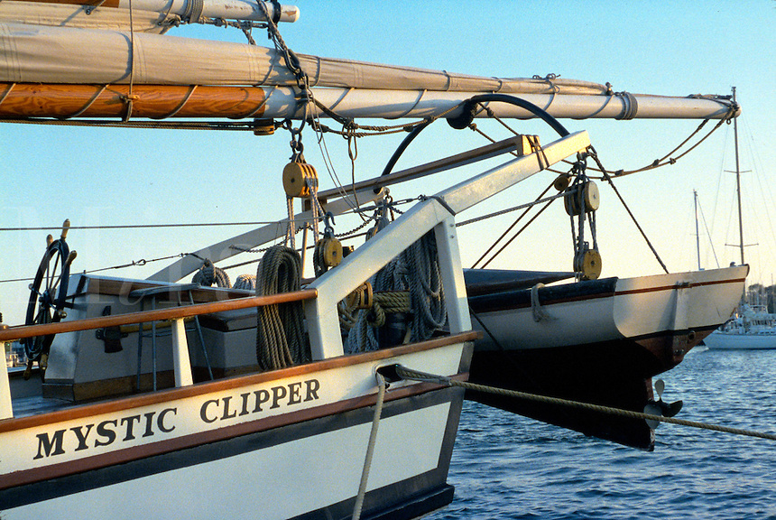 The Mystic Clipper Sailing Ship, a reproduction used for tourist cruises. Maryland.