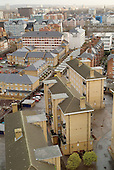 View over Church Street and Lisson Green Estate, in Paddington, City of Westminster, London.