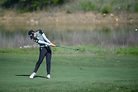 Sung Hyun Park (KOR) hits her approach shot on 18 during round 2 of  the Volunteers of America LPGA Texas Classic, at the Old American Golf Club in The Colony, Texas, USA. 5/6/2018.<br /> Picture: Golffile | Ken Murray<br /> <br /> <br /> All photo usage must carry mandatory copyright credit (&copy; Golffile | Ken Murray)