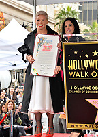 LOS ANGELES, CA. February 05, 2019: Pink &amp; Rana Ghadban at the Hollywood Walk of Fame Star Ceremony honoring singer Pink.<br /> Pictures: Paul Smith/Featureflash