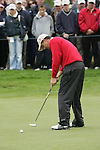 Padraig Harrington takes his putt on the 5th green during the final round of the Irish Open on 20th of May 2007 at the Adare Manor Hotel & Golf Resort, Co. Limerick, Ireland. (Photo by Eoin Clarke/NEWSFILE)