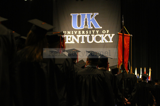 The University of Kentucky holds their graduation ceremony at Rupp Arena on Saturday, May 8, 2010. Photo by Adam Wolffbrandt | Staff