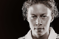 With her commanding frame and presence in the field, Bisby is pretty hard to miss when she plays for Melbourne Victory. Having first made her debut in the inaugural season of the W-League, the English born midfielder has bags of experience. Unfortunately, her 2012/13 season was prematurely ended as she ruptured her ACL against Brisbane Roar in Round 2. //  The 33 year old has 1 Australian cap to her name, and was a part of the WPL Grand Final winning team Box Hill United, as well as the WPL Player of the Year for 2012. //  (Copyright Photo Sydney Low. Text Zee Ko)
