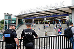 Police watch over Wembley Park Station before the SkyBet Championship Play Off Final match at the Wembley Stadium, England. Picture date: May 29th, 2017.Picture credit should read: Matt McNulty/Sportimage