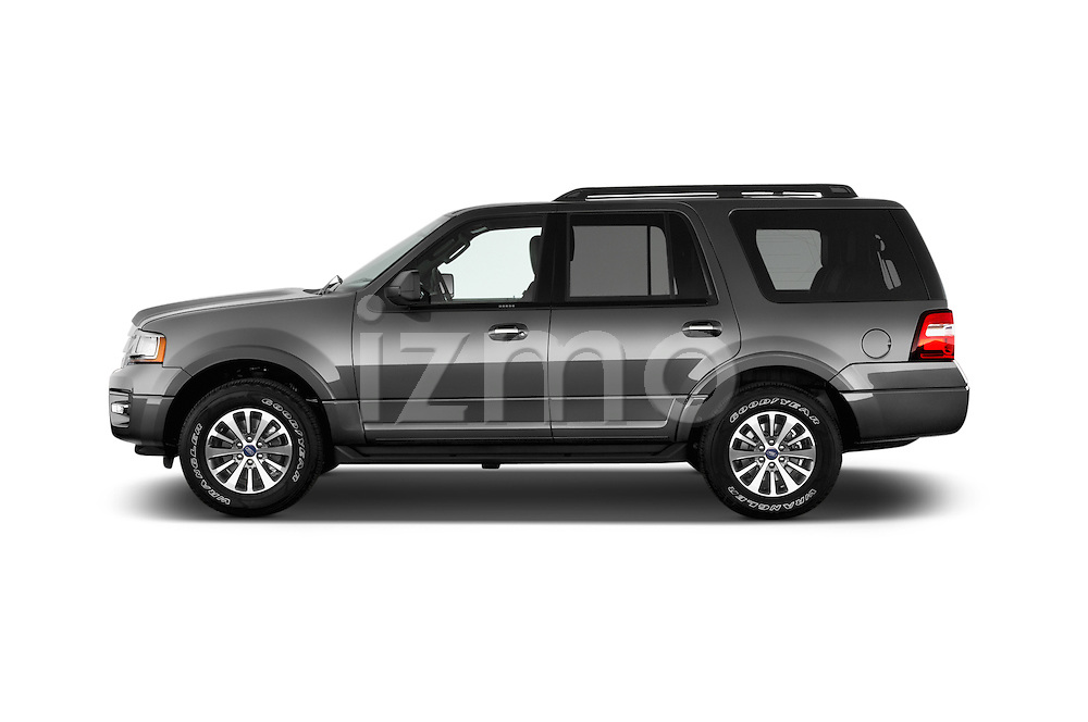 Car Driver side profile view of a 2015 Ford Expedition XLT 5 Door SUV Side View