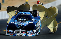 Jul. 17, 2010; Sonoma, CA, USA; NHRA funny car driver Matt Hagan during qualifying for the Fram Autolite Nationals at Infineon Raceway. Mandatory Credit: Mark J. Rebilas-
