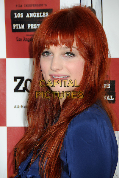 "ALISON SUDOL .""Waiting For Superman"" Gala Screening at the 2010 Los Angeles Film Festival held at Regal Cinemas LA Live, Los Angeles, California, USA, .21st June 2010..portrait headshot fringe blue side  .CAP/ADM/BP.©Byron Purvis/AdMedia/Capital Pictures."
