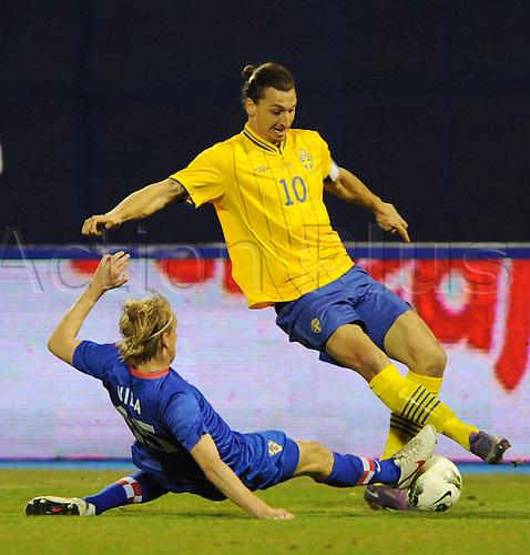 29 02 2012 Zagreb, Croatia.  Croatia versus Sweden international friendly in Zagreb Croatia Picture shows Zlatan Ibrahimovic SWE