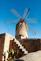 Spanien, Mallorca, Algaida: Windmuehle | Spain, Mallorca, Algaida: windmill