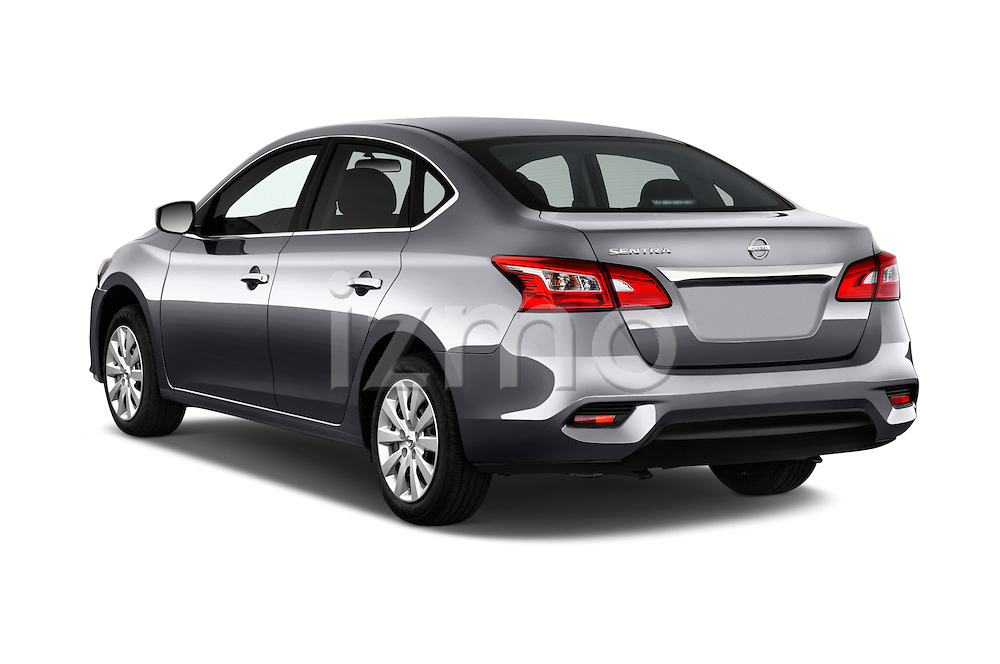 Car pictures of rear three quarter view of 2017 Nissan Sentra S 4 Door Sedan Angular Rear