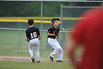 Giants' Jackson Newman makes  catch for an out vs. Cardinals in Germantown Baseball League action in Germantown, Tenn. on Saturday, May 30, 2015. Cardinals won 6-3.