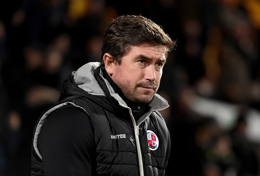 Crawley Town manager Harry Kewell<br /> <br /> Photographer Jon Hobley/CameraSport<br /> <br /> The EFL Sky Bet League Two - Notts County v Crawley Town - Tuesday 23rd January 2018 - Meadow Lane - Nottingham<br /> <br /> World Copyright &copy; 2018 CameraSport. All rights reserved. 43 Linden Ave. Countesthorpe. Leicester. England. LE8 5PG - Tel: +44 (0) 116 277 4147 - admin@camerasport.com - www.camerasport.com
