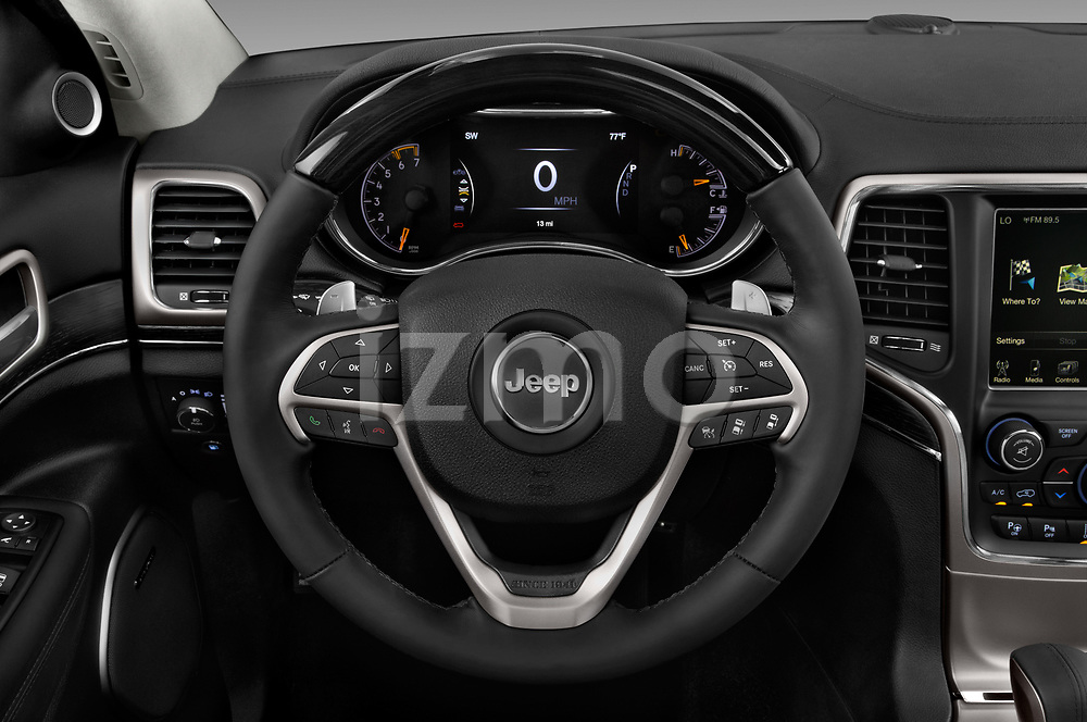 Car pictures of steering wheel view of a 2017 JEEP Grand-Cherokee Summit 5 Door SUV Steering Wheel