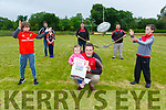Ger Moynihan Chairman launching the Killarney Rugby club  gofundme campaign for Summer pitch maintenance last Thursday front row l-r: Gearoid Sugrue, Aoibhín and Ger Moynihan, Donnacha Murphy. Back row: Conor Sugrue Jer Sugrue, Tom O'Leary and Liam Murphy
