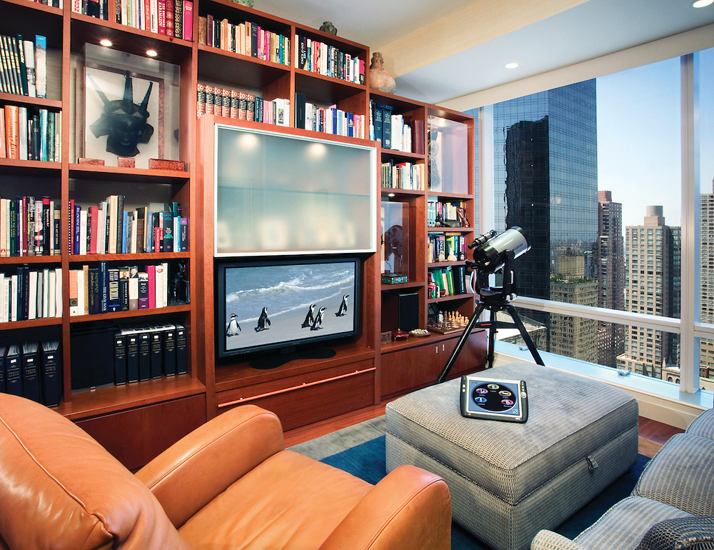 Small Media Room/Library Combination