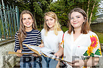 Mairead Dowling (Ballyduff) Sarah Morris (Castlegregory) and Niamh Kenny (Annascaul), students from Presentation Secondary School, Tralee, who received their Leaving Certificate results on Wednesday morning.