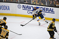 June 12, 2019: St. Louis Blues left wing David Perron (57) in action during game 7 of the NHL Stanley Cup Finals between the St Louis Blues and the Boston Bruins held at TD Garden, in Boston, Mass.  The Saint Louis Blues defeat the Boston Bruins 4-1 in game 7 to win the 2019 Stanley Cup Championship.  Eric Canha/CSM.